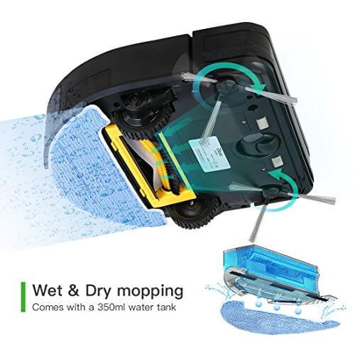 Dibea D960 Roboter Staubsauger mit Mop und Wassertank Testbericht